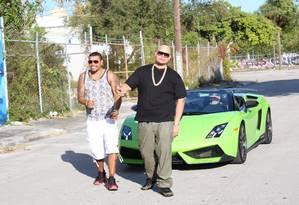 Naldo e o rapper americano Fat Joe, em Miami Foto: Benny Entertainment / Divulgação
