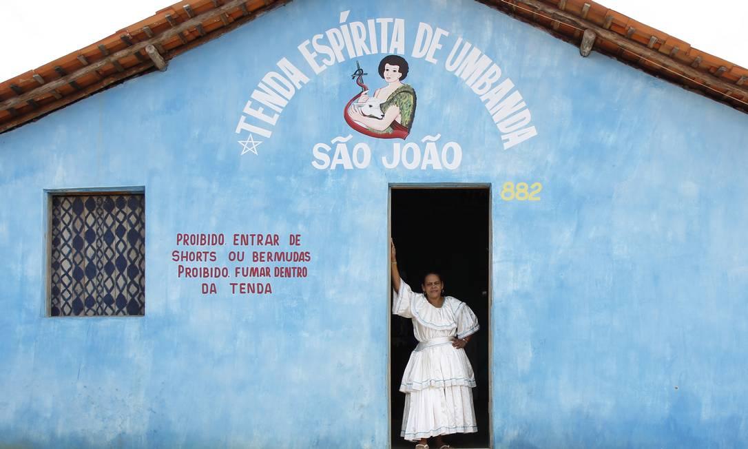 Em Codó, no Maranhão, a mãe de santo Silvia Maria da Silva, 41 anos Foto: Michel Filho / Agência O Globo