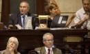 O presidente da Casa, Jorge Felippe: o vereador emprega em seu gabinete sua irmã e aliados que fizeram doações para a campanha de 2012 Foto: Ana Branco / Agência O Globo