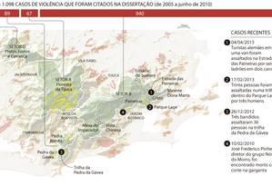 Saiba mais sobre os casos de violência na Floresta da Tijuca Foto: Reprodução