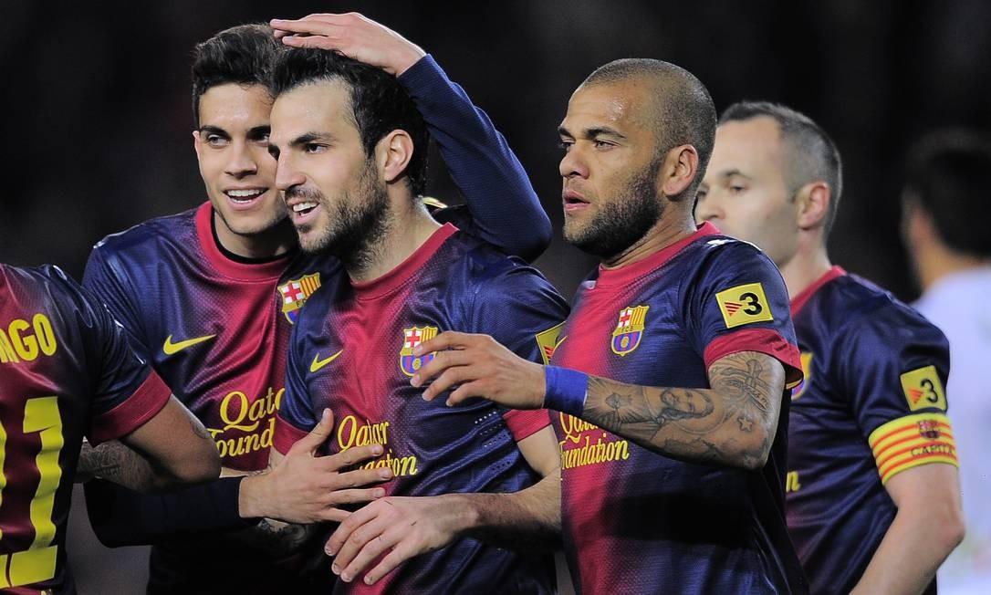 Barcelona atropelou o time do Mallorca e fez 5 a 0. Fábregas marcou três e deu assistência Foto: Manu Fernandez / AP