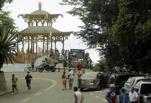 Turistas reclamam de pouco policiamento na Floresta da Tijuca Foto: Gabriel de Paiva / Agência O Globo