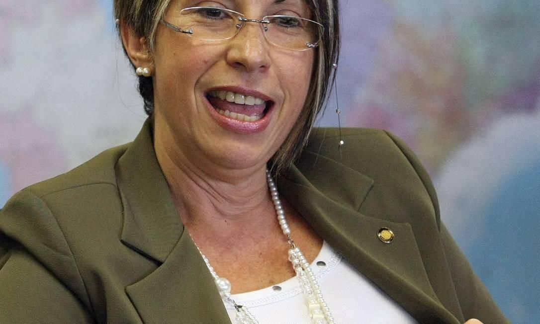 Secretária de Segurança Pública, Regina Miki, fala sobre corrupção na polícia do país Foto: Givaldo Barbosa / Agência O Globo