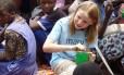 Martha visitou o Malauí, onde ajudou crianças pobres