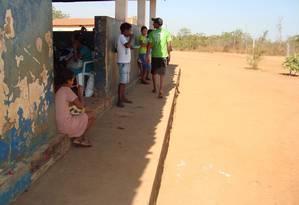 Alunos na cidade de Balsas (MA) sem terem onde comer suas merendas, segundo relatório da CGU Foto: Divulgação/CGU