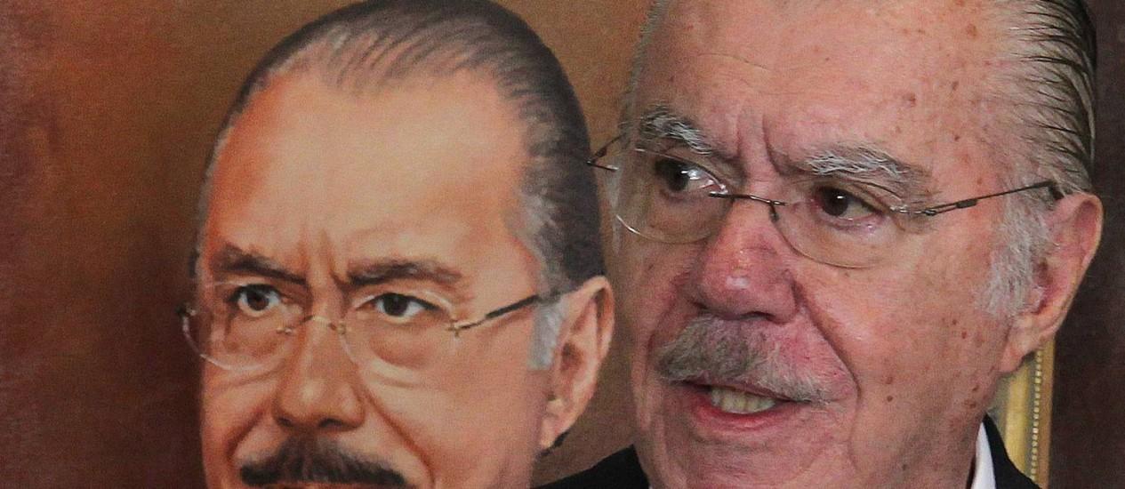 O senador e ex-presidente José Sarney (PMDB-AP) Foto: Arquivo O Globo