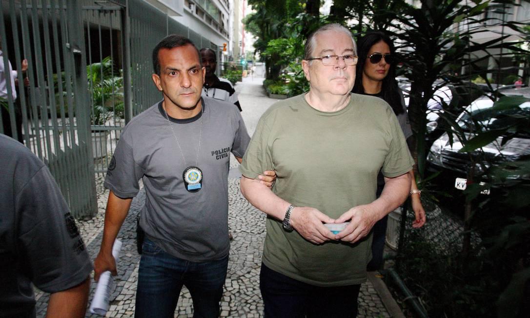 Empresário foi preso em casa na Rua Souza Lima, em Copacabana Foto: Fernando Quevedo / Agência O Globo