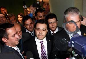 O deputado Marco Feliciano diz que se mantém na Comissão de Direitos Humanos após reunião com líderes Foto: Ailton de Freitas / O Globo