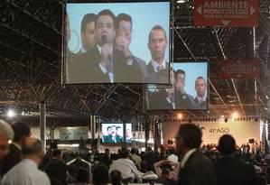 Marco Feliciano participa da Convenção Geral das Assembleias de Deus no Brasil (CGADB), em Brasília Foto: Givaldo Barbosa / O Globo