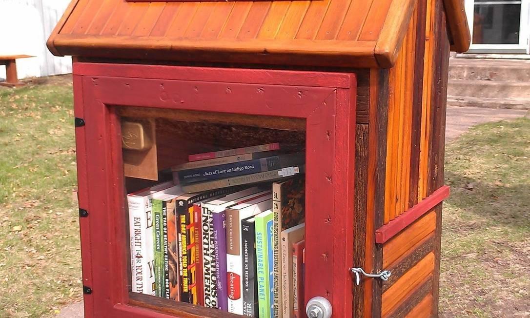 Um exemplar do projeto Little Free Library Foto: Divulgação