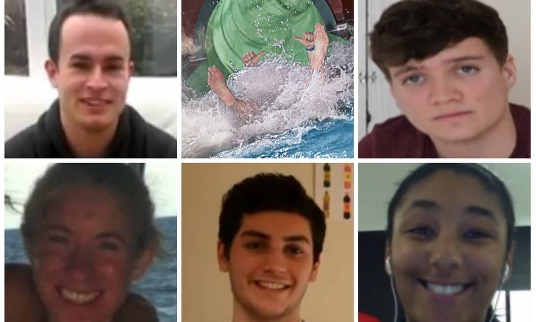 Os escolhidos, em sentido horário: Liam Crouse, Oliver Morris, Emma Heath, Sebastian Smith e Nazain Samuel Foto: Reprodução de internet