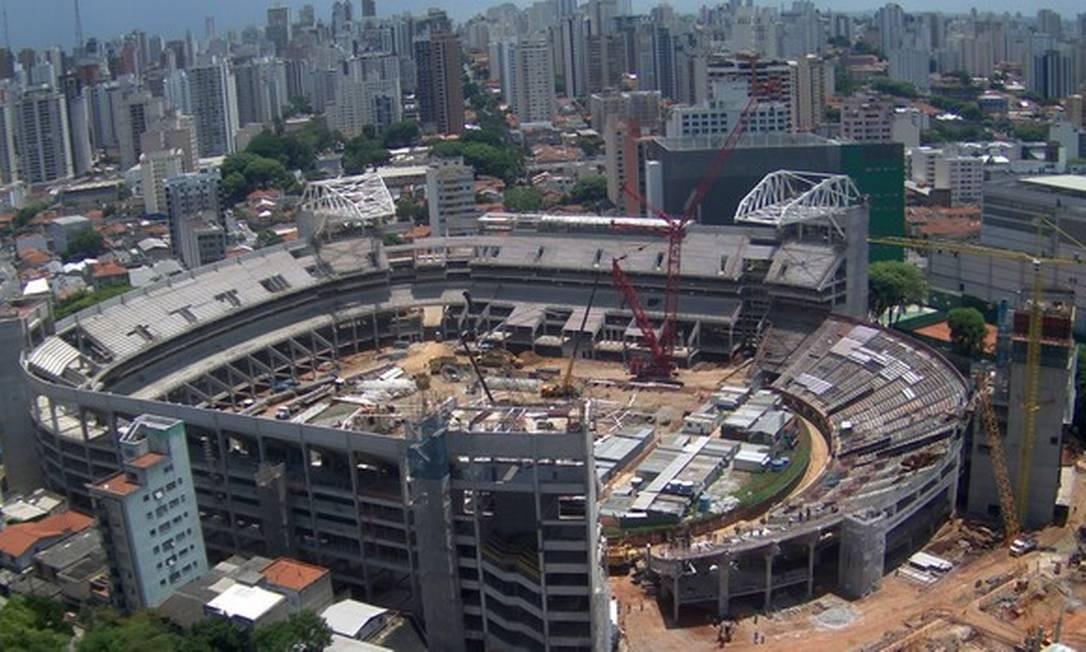A Arena Palestra em reforma, em foto de dezembro de 2012 Foto: Divulgação