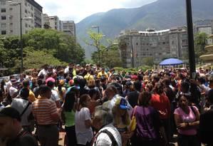 Jovens se reuniram na Praça Altamira, em Caracas Foto: Janaína Figueiredo