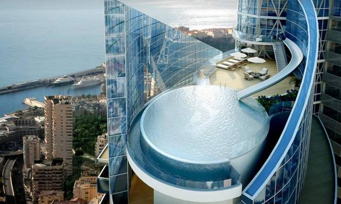 Edifício com os apartamentos mais caros do mundo está sendo construído em Mônaco e deve ser inaugurado em 2014 Foto: Reprodução internet