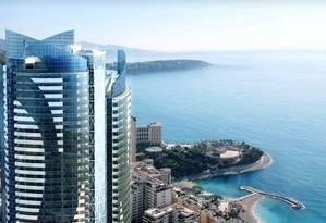 O edifício Odeon Tower está sendo construído em Mônaco e deve ficar pronto em julho de 2014. O empreendimento terá 170 metros de altura Foto: Reprodução internet