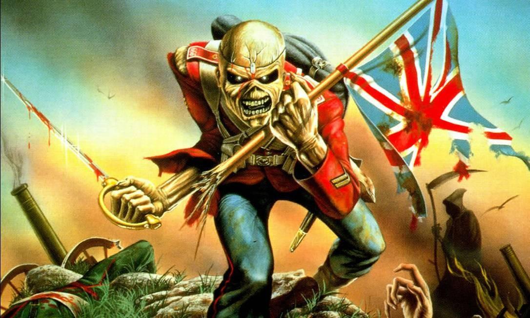 Eddie, o zumbi mascote do Iron Maiden, na capa do single