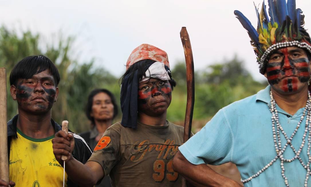 Disputa pela posse da terra em uma das maiores áreas agrícolas do país põe índios e fazendeiros estão em pé de guerra no Mato Grosso do Sul Michel Filho / Agência O Globo