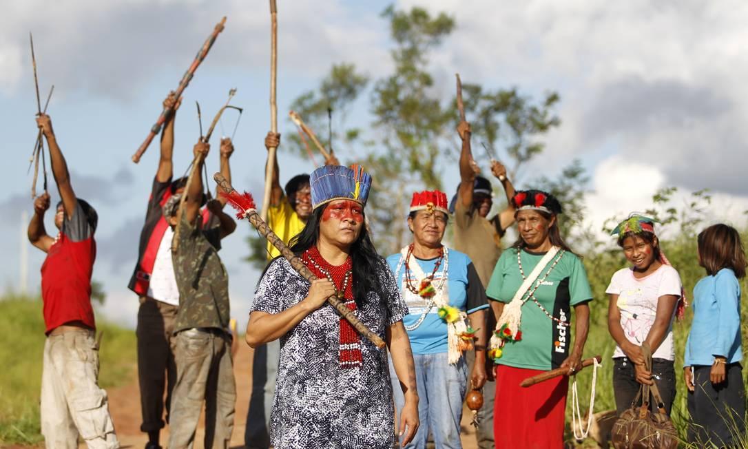 Índios aguardam a demarcação com ansiedade e esperança Michel Filho / Agência O Globo
