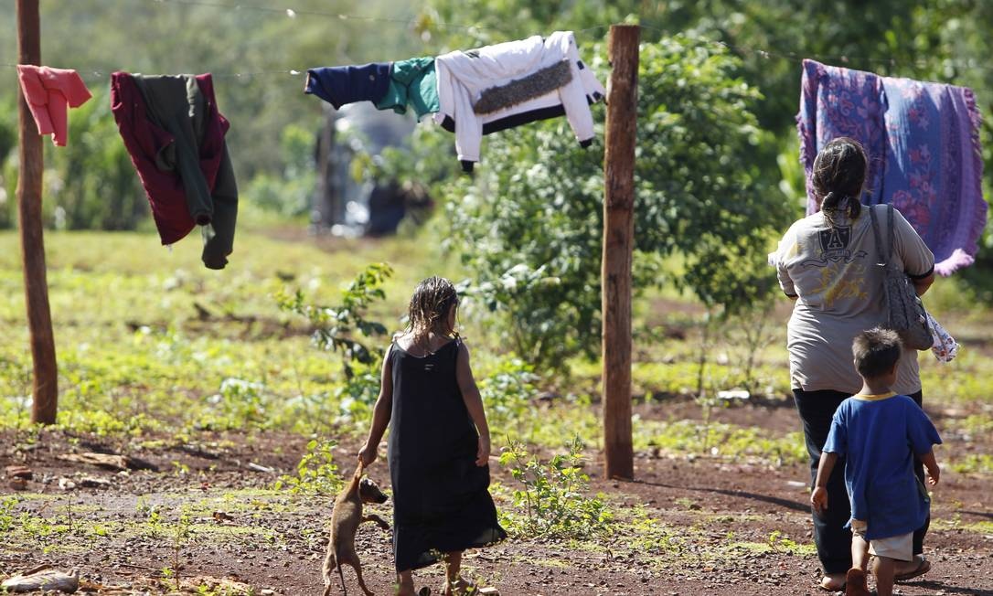 O cacique da aldeia Passo Pirajú é acusado de ter liderado os indígenas que assassinaram dois policiais civis em abril de 2006 Michel Filho / Agência O Globo