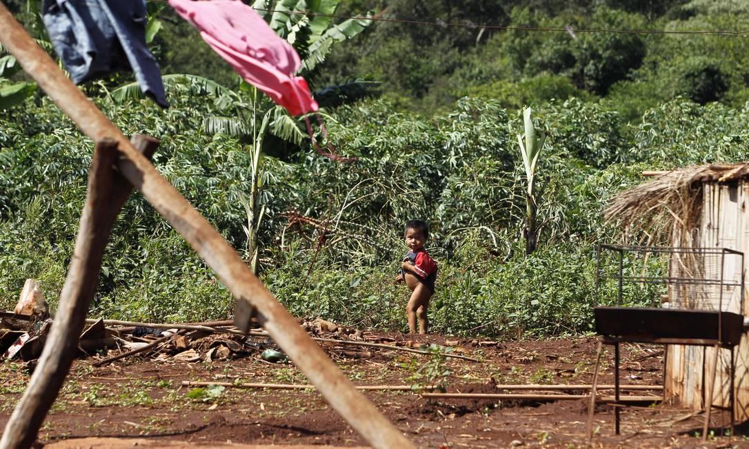 O cacique da Passo Pirajú se defende dizendo que não estava na aldeia no dia do ataque Michel Filho / Agência O Globo