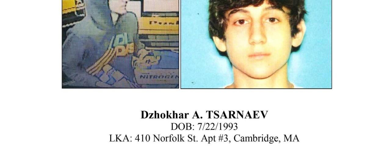 Imagem do suspeito, de acordo com a polícia de Boston Foto: AP
