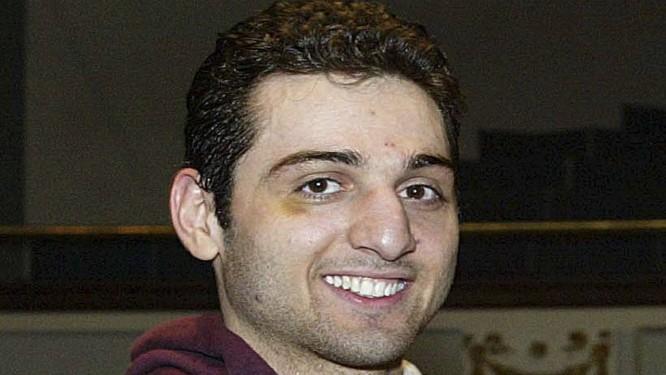Uma foto de Tamerlan Tsarnaev tirada em 2010 após ser campeão de um torneio nacional de boxe Foto: Julia Malakie / AP