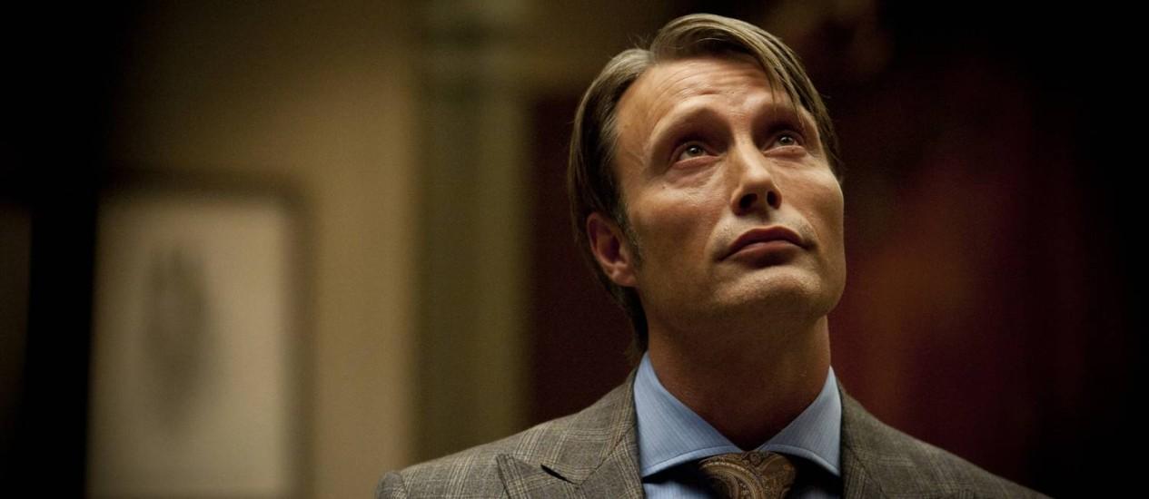 O ator Mads Mikkelsen interpreta o Dr. Hannibal Lecter no seriado da NBC Foto: Brooke Palmer / AP