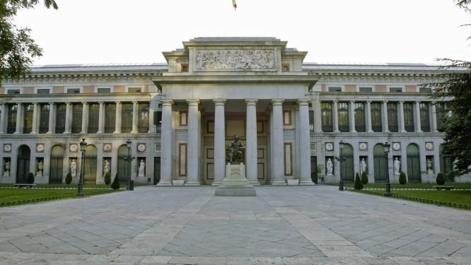 Fachada do Museu do Prado, em Madri Foto: Divulgação