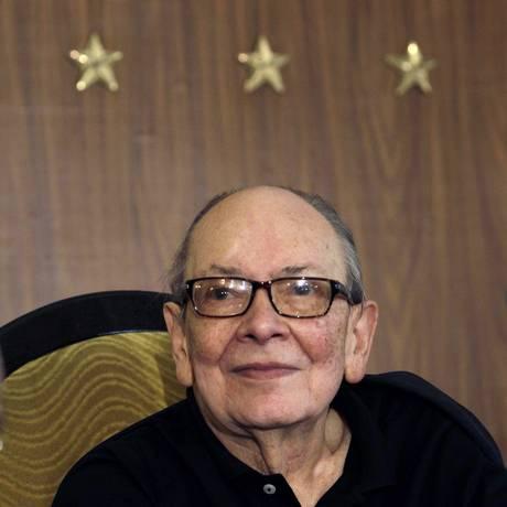 Alfredo Guevara em uma coletiva de imprensa, em Havana, em novembro do ano passado Foto: AP Photo/Franklin Reyes