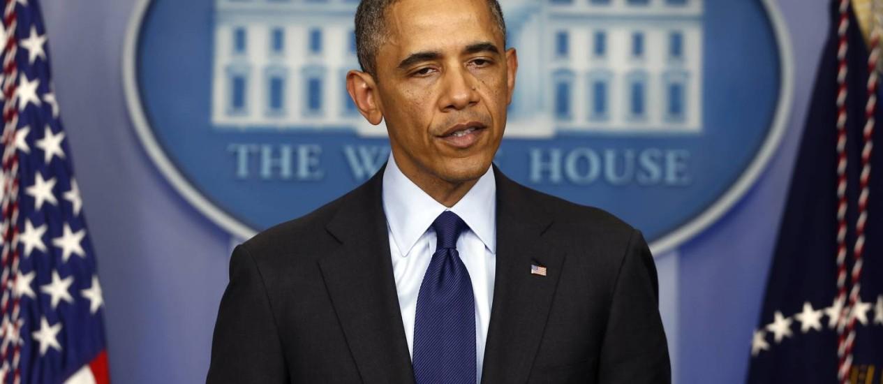 Obama fala após prisão de suspeito de ataque em Boston Foto: Charles Dharapak / AP