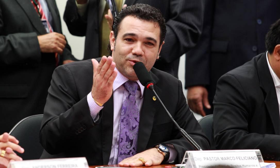 O presidente da Comissão de Direitos Humanos, deputado Marco Feliciano, não pensa em renunciar ao cargo Foto: Ailton de freitas / Agência O Globo