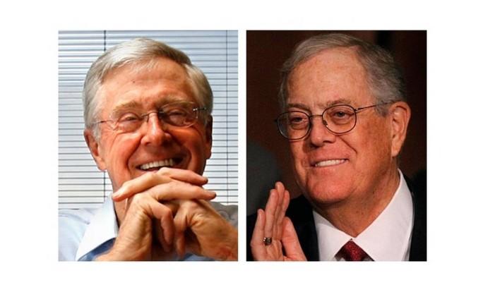 Os irmãos Charles e David Koch Foto: AP & Reuters