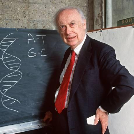 James Watson, um dos descobridores do DNA, em foto de 1993 Foto: DANIEL MORDZINSKI / AFP 23-04-1993
