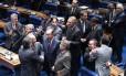 Oposição comemora a derrubada do requerimento de urgência do projeto de que inibe a criação de novos partidos
