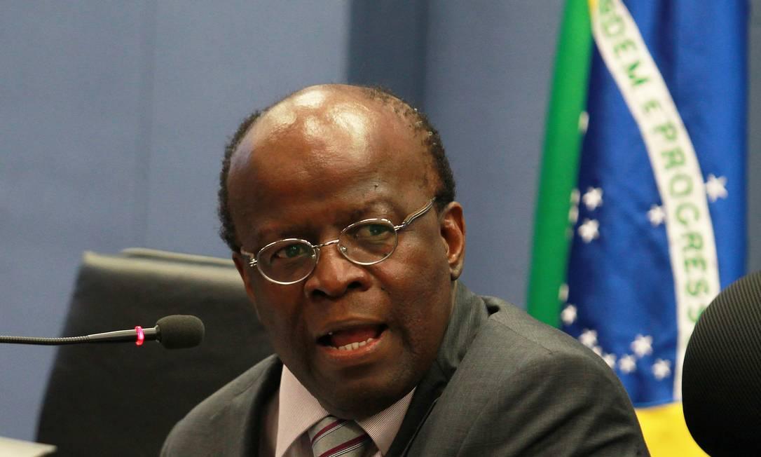 O presidente do Supremo Tribunal Federal (STF), Joaquim Barbosa Foto: Ailton de Freitas / Arquivo O Globo