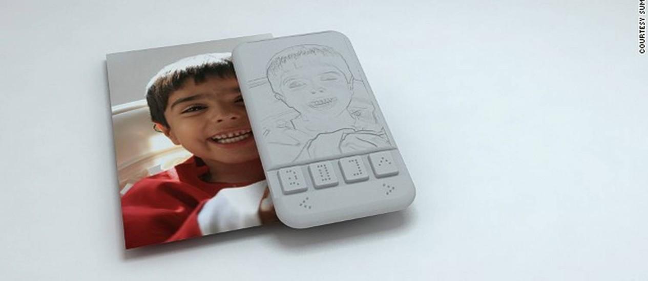 Projeção de como o smartphone exibirá fotos em alto-relevo Foto: Reprodução