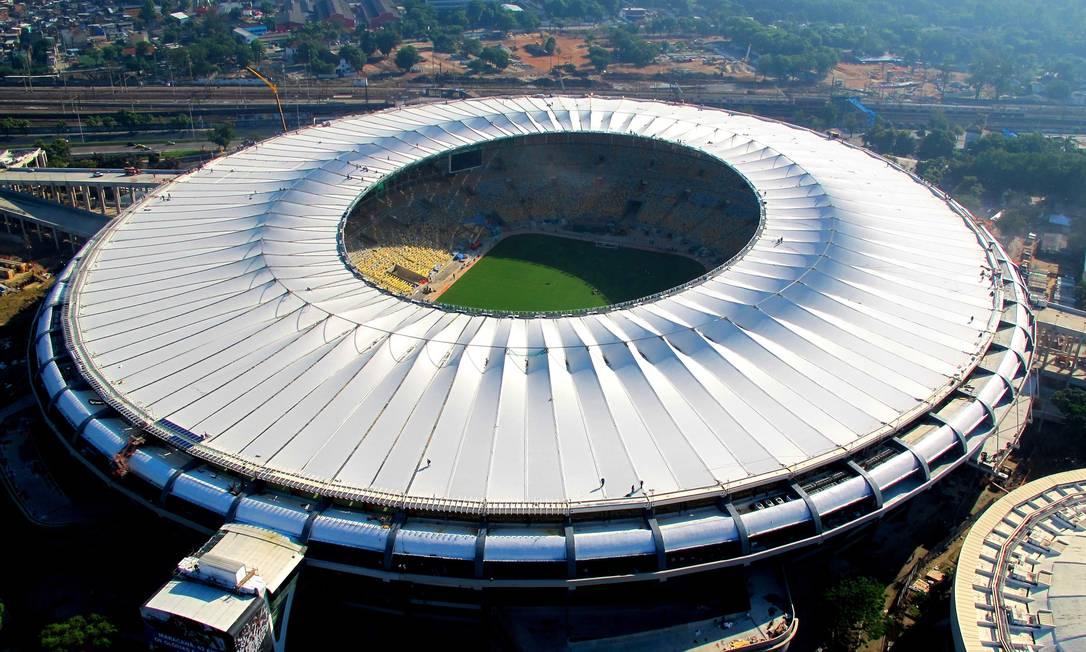 Vista aérea da cobertura do estádio Maracanã, na zona norte do Rio Genilson Araújo / Agência O Globo