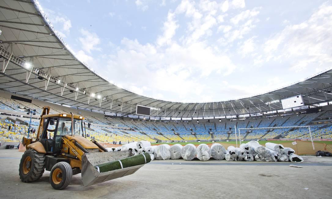 Obras de reforma do Maracanã: orçamento chegou a R$ 1,12 bilhão Ivo Gonzalez/19-04-2013