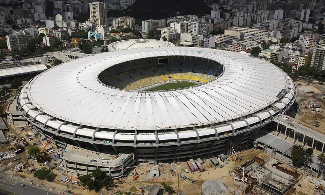 O Maracanã com a nova cobertura Secretaria Municipal de Obras / Divulgação