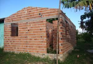 Casas abandonadas em 2011 no município de Marajá do Sena, no Maranhão, pela empreiteira SC Construções Crédito Foto: Arquivo pessoal