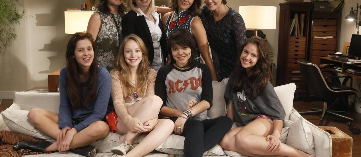 Sophia Abrahão, Malu Rodrigues, Bella Camero e Clara Tiezzi vivem as protagonistas do longa-metragem Foto: Divulgação