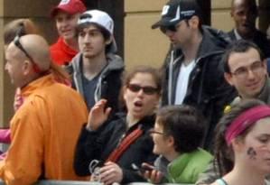 Os irmãos Tsarnaev, pouco antes das explosões em Boston Foto: Bob Leonard / AP