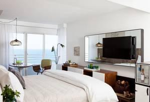 O novo The James Royal Palm tem quartos dedicados a famílias Foto: Antoine Heusse / Divulgação