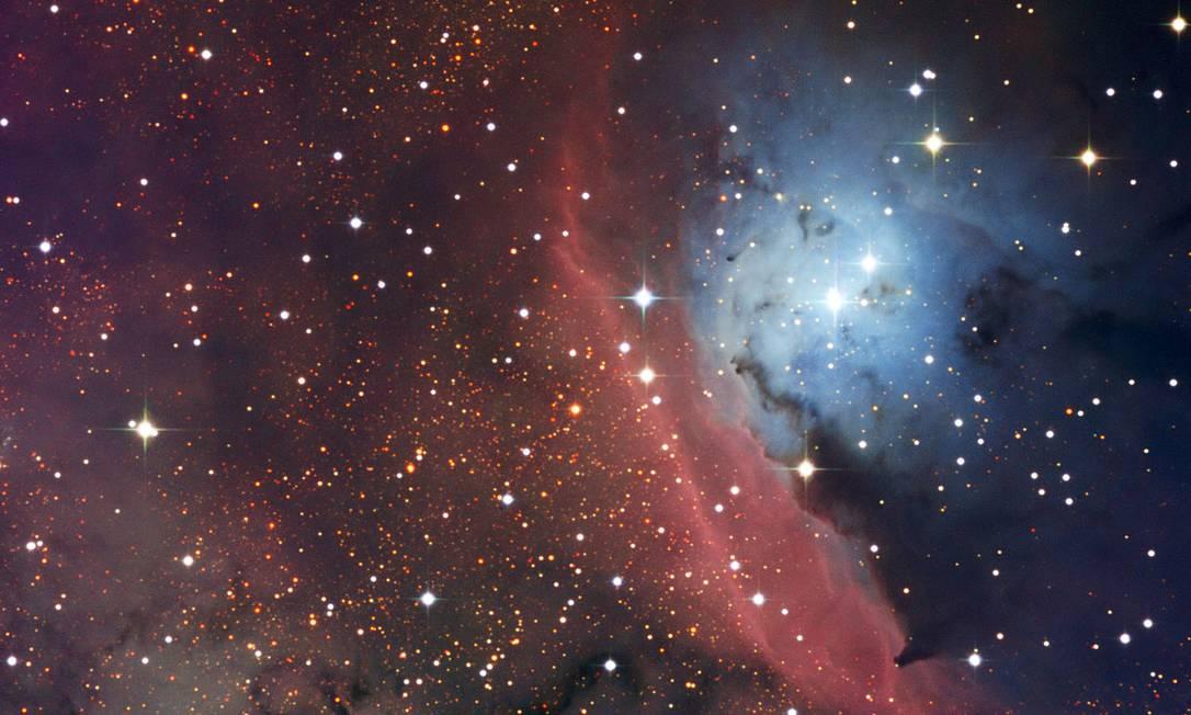 A região de formação estelar NGC 6559, em imagem capturada por telescópio dinamarquês no Chile Foto: ESO