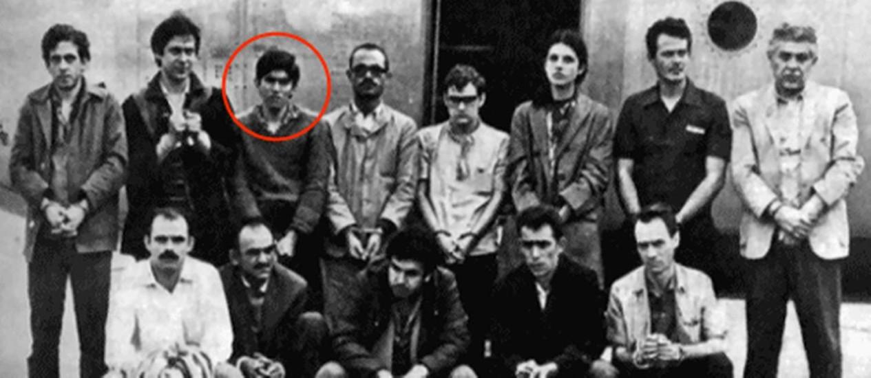 José Ibrahim, em destaque na foto histórica, e em imagem mais recente Foto: Divulgação / Arquivo O Globo