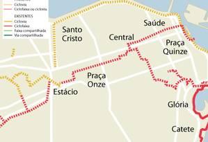 O projeto das ciclovias Foto: Prefeitura do Rio / Divulgação