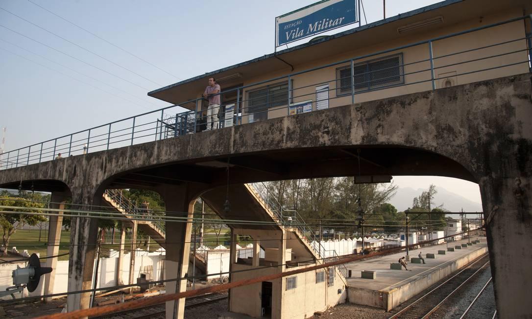 A estação ferroviária Vila Militar, da Supervia, será reformada pelo governo estadual por conta dos Jogos Olímpicos Adriana Lorete / O Globo