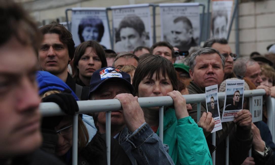 No ano passado, mais de 400 pessoas foram presas e alguns entraram em choque com a polícia Foto: ANDREY SMIRNOV / AFP