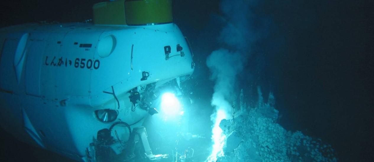 CH Rio de Janeiro (RJ) 06/05/2013 O Submersível Yokosuka, da agência japonesa de tecnologia da terra e do mar Foto Divulgação Foto: Terceiro / Agência O Globo