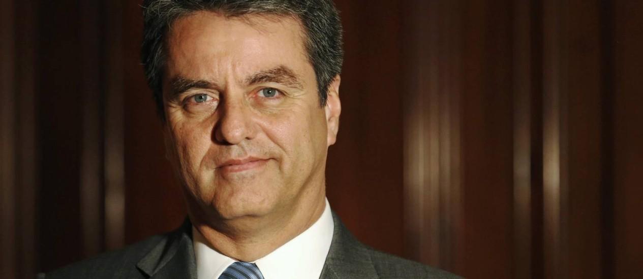 O diplomata brasileiro Roberto Azevêdo assumirá a OMC a partir de setembro Foto: Luke MacGregor